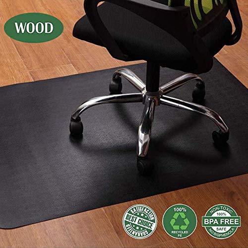 OleOletOy Bodenschutzmatte schwarz, Bürostuhl unterlage 120x90cm - für Laminat, Parkett, Fliesen und Hartböden, schützen Ihren Boden vor Kratzern - rutschfest, BPA frei, Keine Ausdünstungen, atoxisch