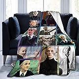 Pappagallo Beek Draco-Malfoy Coperta per letto divano soggiorno coperta da viaggio (1,127 x 152,4 cm, colore: nero