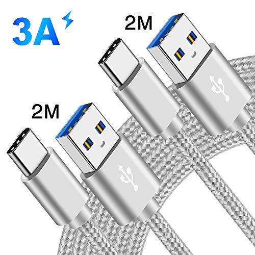 3A Cavo Per Huawei P20/P20 Lite/P20 P30 Pro,Sony Xperia 1 10 10+ PLus L3 L2 L1,XZ3 XZ2 XZ1 XZ Premium Compact XZS,XA1 XA2 Ultra,Oppo Reno/RX17 Pro,USB Type C Ricarica Rapida 2M 2 M,Cavetto Caricatore