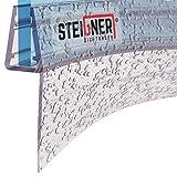 STEIGNER Guarnizione doccia, 80cm, per spessore vetro 3,5/4/ 5 mm, guarnizione semicircolare in PVC, UK04