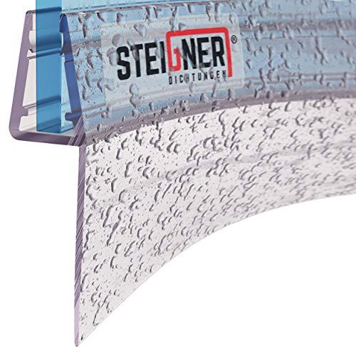 STEIGNER Duschdichtung, 60cm, Glasstärke 6/7/ 8 mm, Vorgebogene PVC Ersatzdichtung für Runddusche, UK05