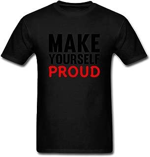 Tangry Men's Motivational Slogan Design Cotton Short Sleeve T Shirt