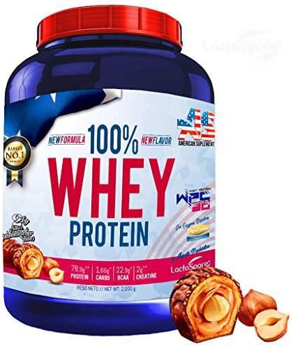 100% Whey Protein con Probioticos Lactospore, American Suplement, 2kg, bombon rocher