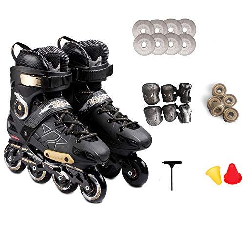 MLSS LI Skates Erwachsenen Inline-Phantasie Professionelle Flache Blume Eislaufen Blinkende Rollschuhe,G-41