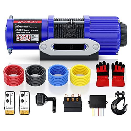 AYLEID 12V 4500LBS ATV Winch Rope ATV Winch Cable, UTV Winch Kits (Nylon-4500S)