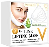 5 PCS V LINE LIFTING FACE MASK Chin Mask V Up Contour Tightening Firming Face Lift Tape Neck Mask V-Line Lifting Patches V Shaped Slimming Face Mask 5
