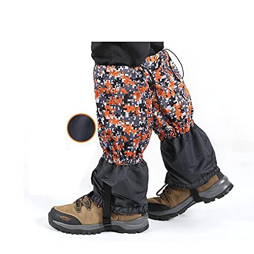 Yingbao Camuflaje Adulto Más Terciopelo Cálido Nieve Botas De Nieve Al Aire Libre Impermeable Leggings Ajustables, Desierto De Esquí Jungle Senderismo Montaña Zapatos De Nieve