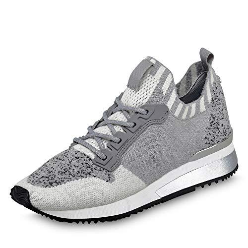 La Strada 1905885 - Damen Schuhe Sneaker - 4503-grey-wool-knitt, Größe:38 EU