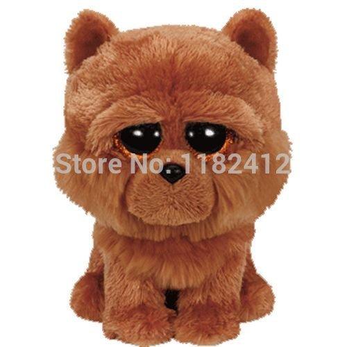 New TY Plush Animals Beanie Boos Barley Brown Chow Dog Plush Toy 15cm/6'' Cute Ty Big Eyes Stuffed Animal Soft Toys for Children by ToySDEPOT -  43234-2478