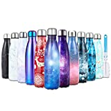I Kua Fly 17oz/500ml Water Bottle Double Wall Vacuum Keep Hot and Cold Insulated Water Bottle Stainless Steel...