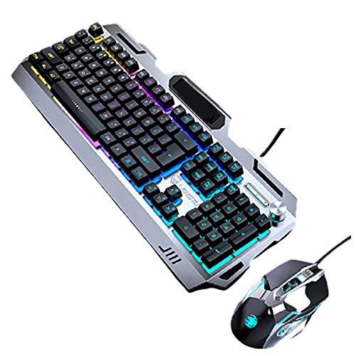 RGB Backlit Mechanical Gaming Keyboard Programming Macro- Media Control Keyboard and Mouse Combo PS5