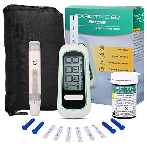 Summer Blutzuckermessgeräte, Home Elektronische Blutzuckermessgerät mit 50 Code-Freie Teststreifen und 50 Lancets for Kinder, Schwangere Frauen Erwachsene Hypertoniker