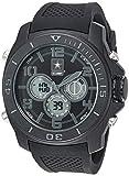 U.S. Army Men's Analog-Digital Chronograph Black Silicone Strap Watch by Wrist Armor, F2/1006