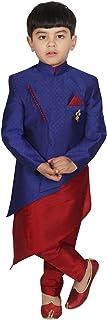 SGYUVRAJ Raw Silk Kurta Pyjama With Nehru Jacket Set (DL-GD142)