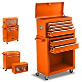 8-Drawer Rolling Tool Chest, Keyed Locking System Tool Box with Sliding Drawers,High Capacity Tool...