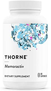 Thorne Research - Memoractiv - Botanicals and Nutrients for Cognitive Function and Mental Focus - Ashwaganda, Acetyl-L-Carnitine, Ginkgo, and PURENERGY Caffeine - 60 Capsules