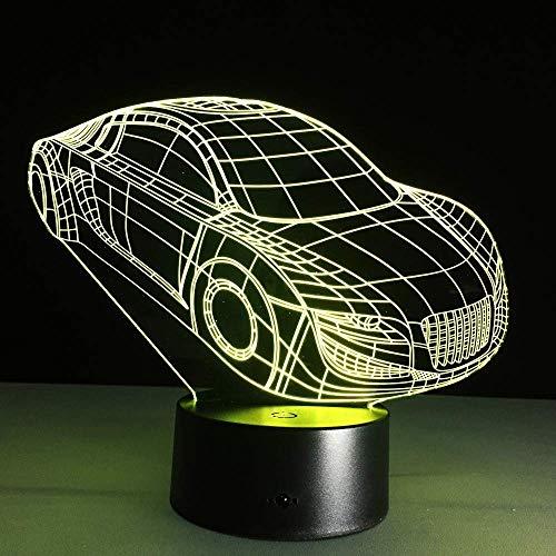 Lámpara 3D Con Forma De Coche Deportivo, Control Remoto Táctil, Luz Nocturna Led 3D, Novedad Para Lámpara De Mesa, Iluminación Para Dormir Para Bebés Y Niños