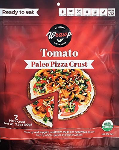 Paleo Pizza Crusts 2 Pack Pizza Crusts - Tomato (Raw, Vegan, Paleo, Gluten Free wraps) Wheat Free