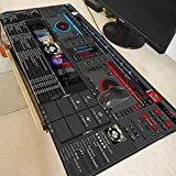 AUUUA alfombrilla de ratón Dj Hand Drive Speed Pad To Mouse Computer Large Locking Edge Mousepad...