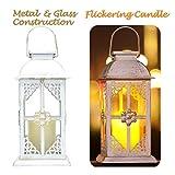 Solar Laterne für außen - mit hell flackernder LED Kerze