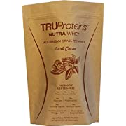 TRUProteins NutraWhey Grass Fed Undenatured Native Whey Protein Concentrate Sweetened w/Coconut Water & Stevia, Flax & Chia, Digestive Enzyme & Probiotic. Non-GMO, Gluten Free. No Artificial Anything.