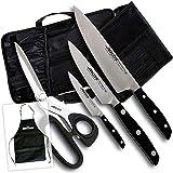 Juego de Cuchillos Manhattan Arcos + Tijera + Bolsa Transporte (Edición Bricolemar Pro Chef)