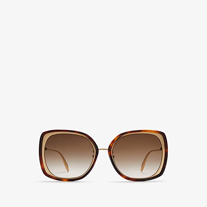 Alexander McQueen  AM0151S (Gold) Fashion Sunglasses