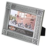 Harley-Davidson Tire Tread Tin Plated Picture Frame -Holds 5 x 7 Photo HDX-99171
