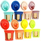 Youngever 8 Pack Reusable K Cups - Eco Friendly Reusable Refillable Single Cup Coffee Pod, 8 Rainbow Colors
