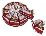DISOK - Set 10 Cajas Porción Pastelito + Display Rojo