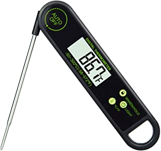 Meat Thermometer With Orientation Sensor Ambidextrous Display and Waterproof Design for Kitchen Cooking and BBQ Grilling,Instant Read Grill Thermometer(Black)