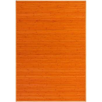 Alfombra para salón de 140x200cm de Bambú Natural Naranja