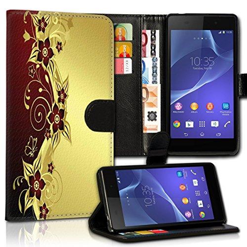 wicostar Wallet Book Style Flip Handy Tasche Hülle Schutz Hülle Schale Motiv Etui für HTC One A9 - Variante UMV28 Design2