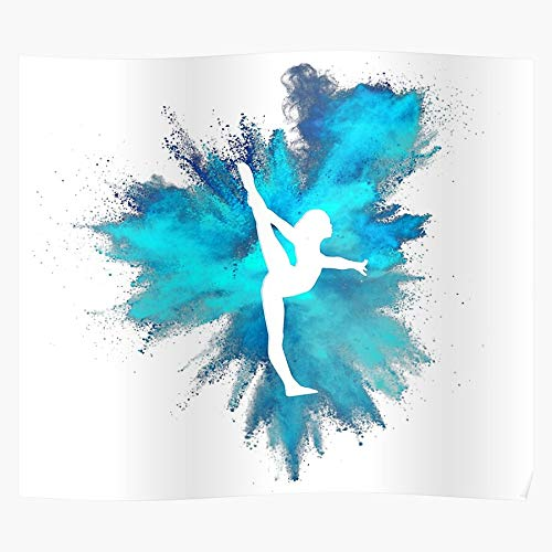 Stretch Handstand Back Yurchenko All Straddle Dismount Double Gymnastics Around Home Decor Wall Art Print Poster !