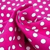 Emily&Joe's fabrics Stoff Jersey Meterware pink Polka Dots