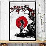 Dragon Ball Young Goku Super Saiyan Hot Japan Anime Wall Art Canvas Painting Silk Poster Decoración del hogar 50x70CM SIN marco