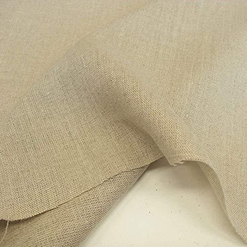 TOLKO 50cm Roh-Leinen Naturstoff als Meterware | 100% Bio | Weder gefärbt noch gewaschen | 170cm breit | Leinenstoff für Kleid Hose Rock Bluse | Gewand Vorhänge Gardinen und Dekorationen (Natur Beige)