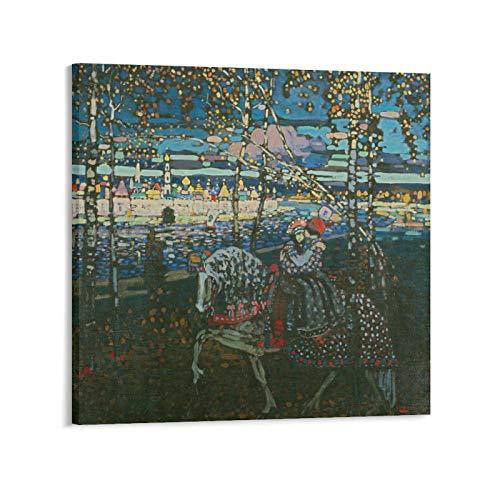 YGTD Wassily Kandinsky - Póster para montar a caballo (60 x 60 cm)