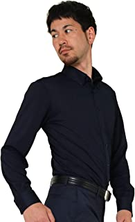 ワイシャツ ニットシャツ 完全ノーアイロン ストレッチ メンズ 長袖 吸水速乾 ボタンダウン ニット素材 伸縮性/zb