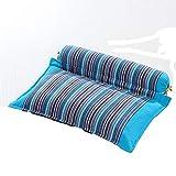 JONJUMP Cuidado de la salud almohada de alforfón cáscara cuello apoyo cervical proteger rayas impresión almohadas viaje cama almohada dormir