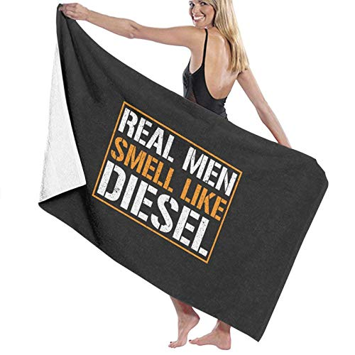 U/K Real Men - Toalla de baño con olor a diésel, secado rápido