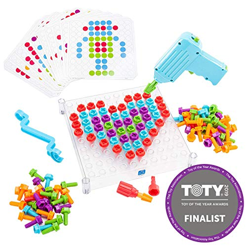 Educational Insights Design & Drill See-Through Creative Workshop - Drill Toy, STEM &...