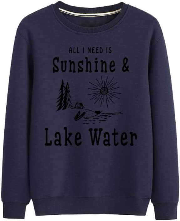 MNmkjgfgj Pullover All I Need is Sunshine Lake Water Retro Soft Pullover Men (Color : B04, Size : XX-Large)