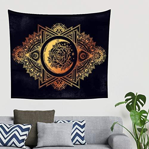 O5KFD & 8 gouden maan roos patroon wandbehang romantisch exclusief strandlaken - mandala voor evenement decoreren