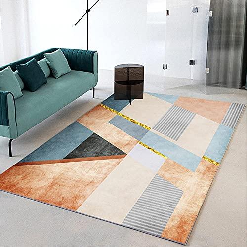La Alfombra alfombras Oficina Alfombra de Sala de Estar de diseño Moderno geométrico a Rayas Azul Amarillo habitación Juvenil Alfombra Alfombra Infantil Lavable 60*160cm