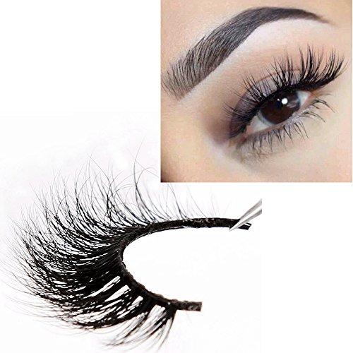 3D Mink Eyelashes Strips Natural Mink Lashes Wispies Comfortable Dramatic Eye Lashes Easy to Use with Case Halloween Eyelashes Human Eyelashes by LANKIZ