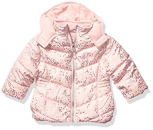 Pink Platinum Baby-Mädchen Spray Foil Print Puffer Jacke, Blush, 24 Monate