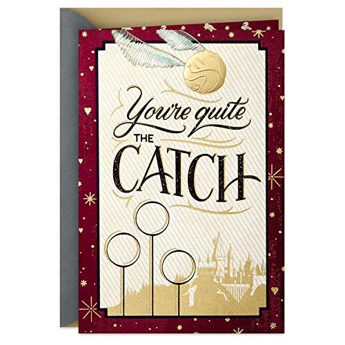 Hallmark Tarjeta de San Valentín de Harry Potter para otros significativos (Golden Snitch)