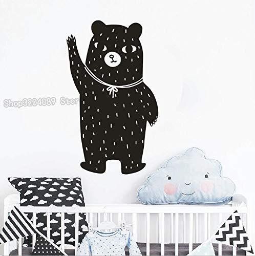 Verkäufe Cute Bear Wandaufkleber Dekoration Ein Geschenk Für Kinderzimmer Kindergarten Wohnzimmer Kunst Wandbilder Vinyl Aufkleber 40X95CM