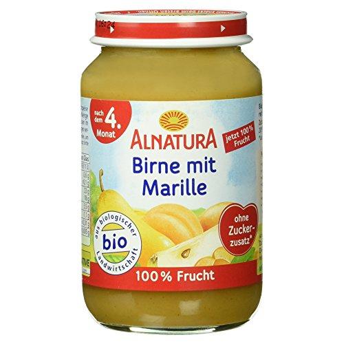 Alnatura Bio Birne mit Marille, nach dem 4. Monat, 190 g